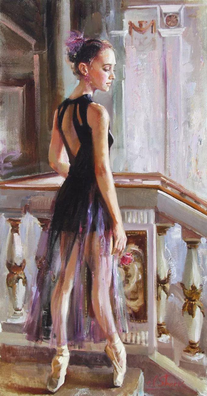 她的油画有一种惊艳脱俗的美,乌克兰天才女画家艾琳·谢里插图25