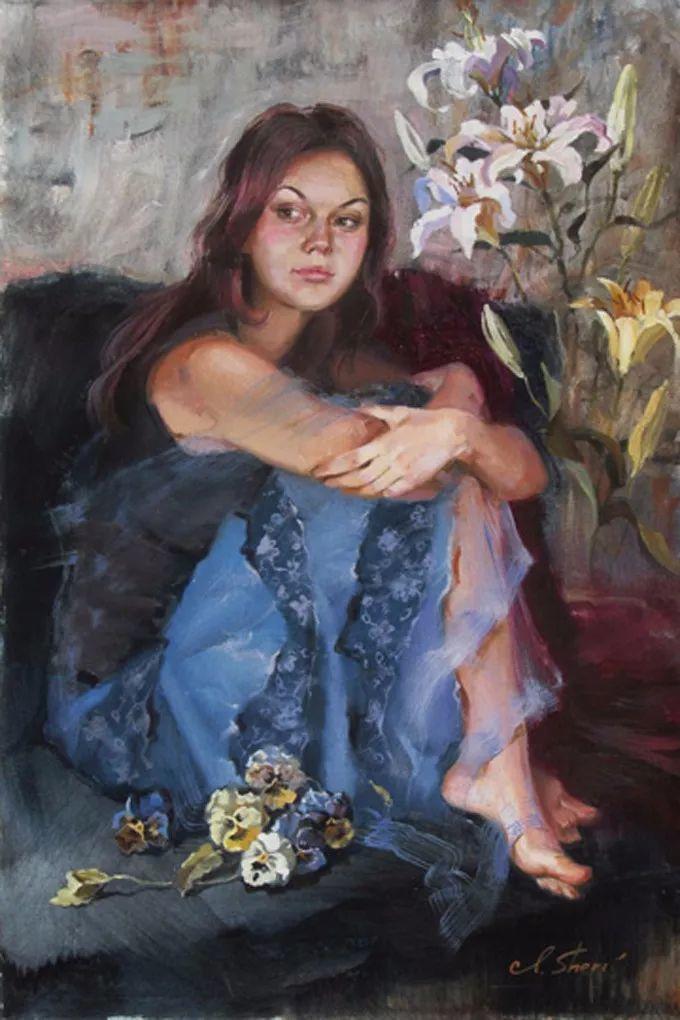 她的油画有一种惊艳脱俗的美,乌克兰天才女画家艾琳·谢里插图26