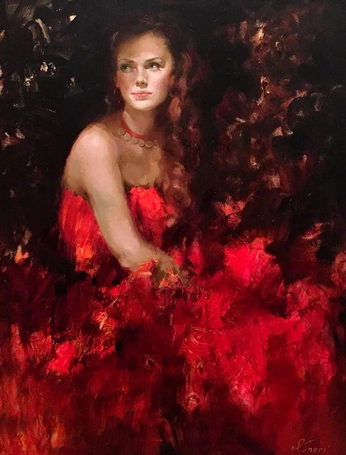 她的油画有一种惊艳脱俗的美,乌克兰天才女画家艾琳·谢里插图27