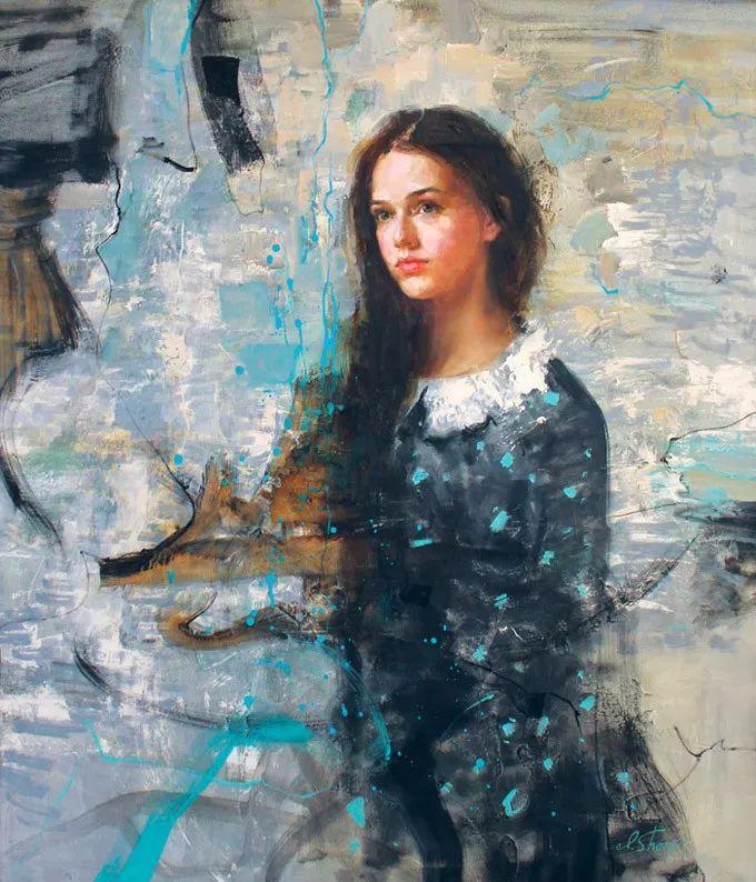 她的油画有一种惊艳脱俗的美,乌克兰天才女画家艾琳·谢里插图29