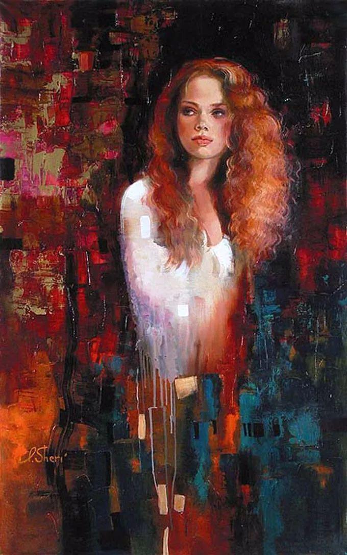 她的油画有一种惊艳脱俗的美,乌克兰天才女画家艾琳·谢里插图30