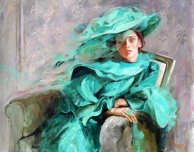 她的油画有一种惊艳脱俗的美,乌克兰天才女画家艾琳·谢里插图32