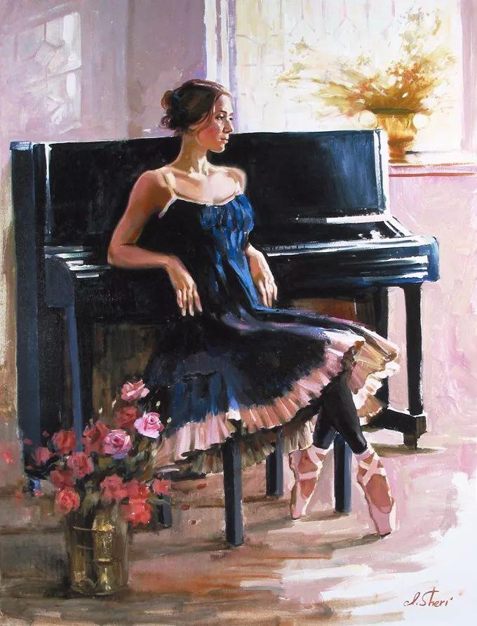 她的油画有一种惊艳脱俗的美,乌克兰天才女画家艾琳·谢里插图33