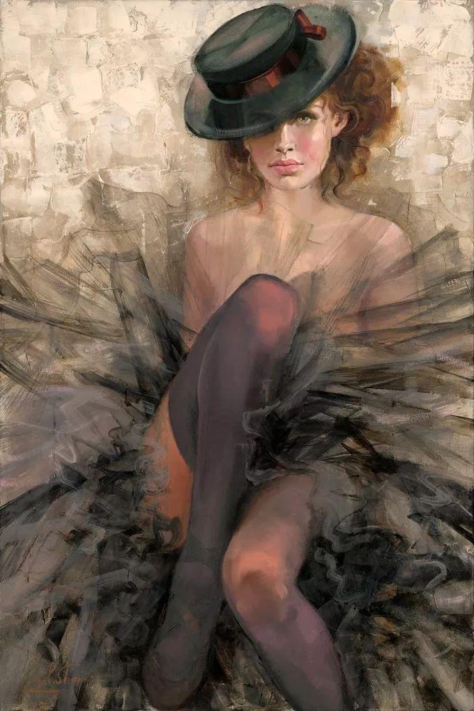 她的油画有一种惊艳脱俗的美,乌克兰天才女画家艾琳·谢里插图34