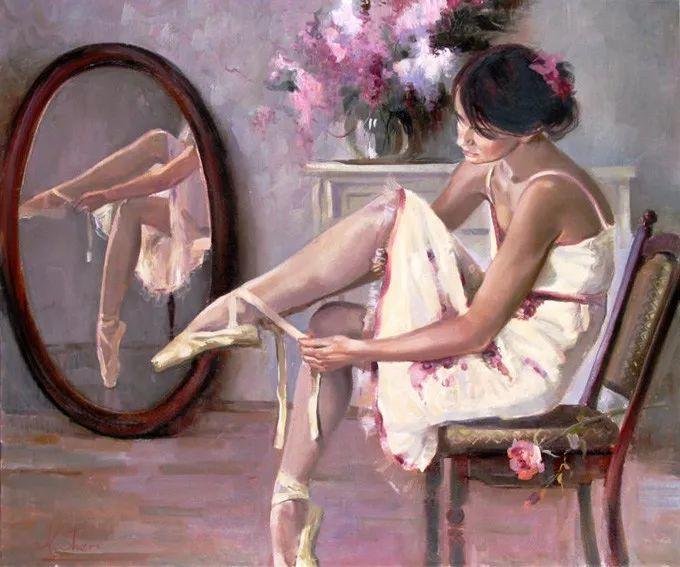 她的油画有一种惊艳脱俗的美,乌克兰天才女画家艾琳·谢里插图35