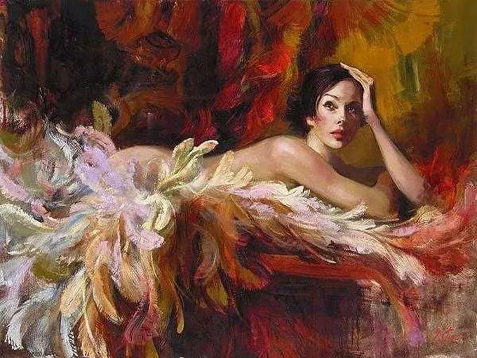 她的油画有一种惊艳脱俗的美,乌克兰天才女画家艾琳·谢里插图36