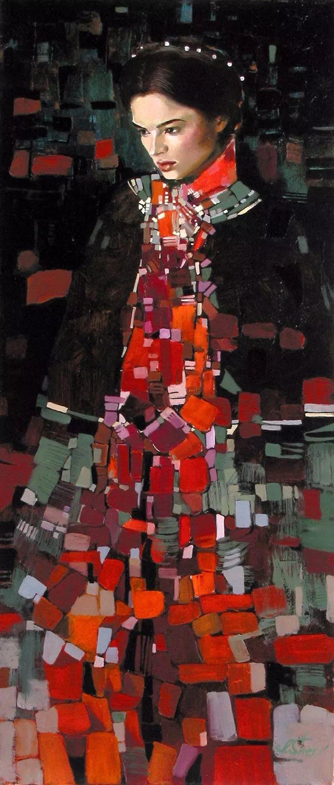 她的油画有一种惊艳脱俗的美,乌克兰天才女画家艾琳·谢里插图37