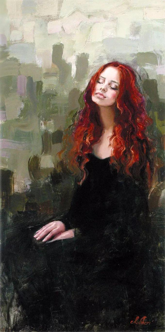 她的油画有一种惊艳脱俗的美,乌克兰天才女画家艾琳·谢里插图39