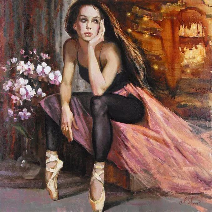 她的油画有一种惊艳脱俗的美,乌克兰天才女画家艾琳·谢里插图40