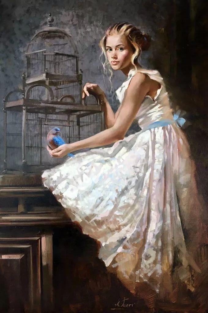 她的油画有一种惊艳脱俗的美,乌克兰天才女画家艾琳·谢里插图41