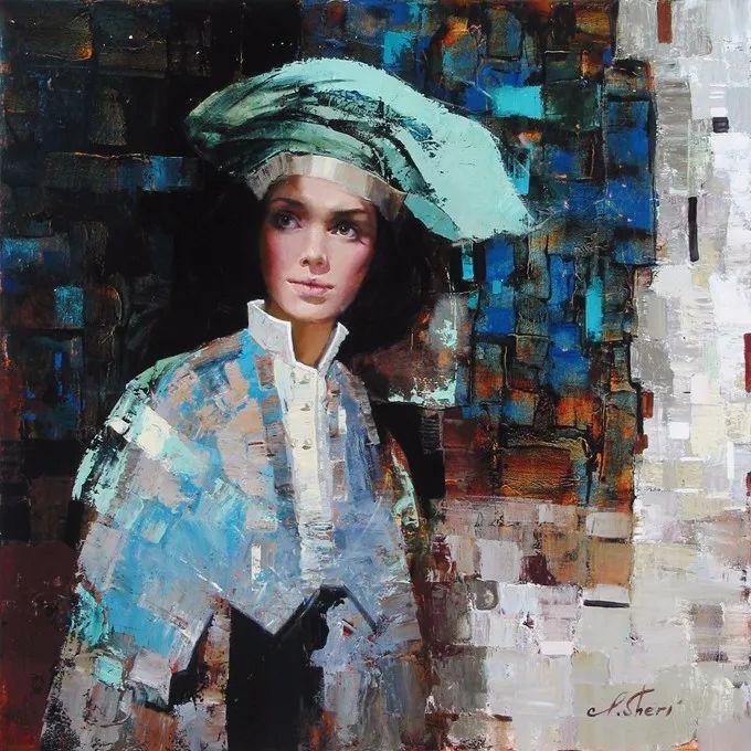 她的油画有一种惊艳脱俗的美,乌克兰天才女画家艾琳·谢里插图42