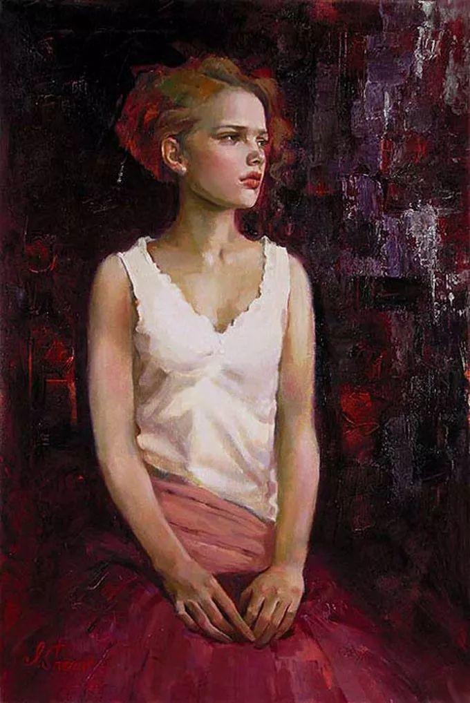 她的油画有一种惊艳脱俗的美,乌克兰天才女画家艾琳·谢里插图43