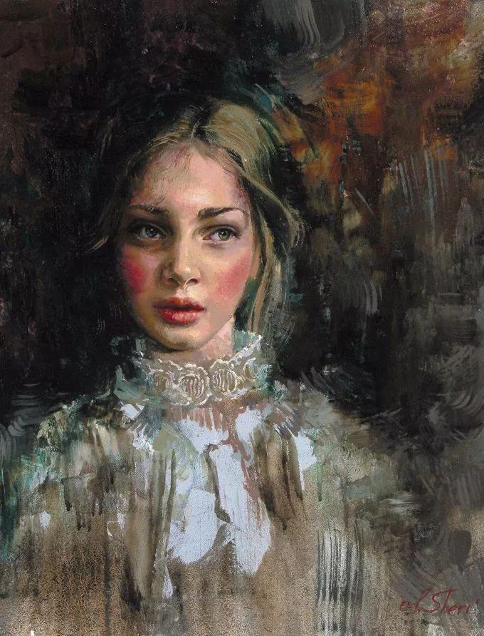 她的油画有一种惊艳脱俗的美,乌克兰天才女画家艾琳·谢里插图44