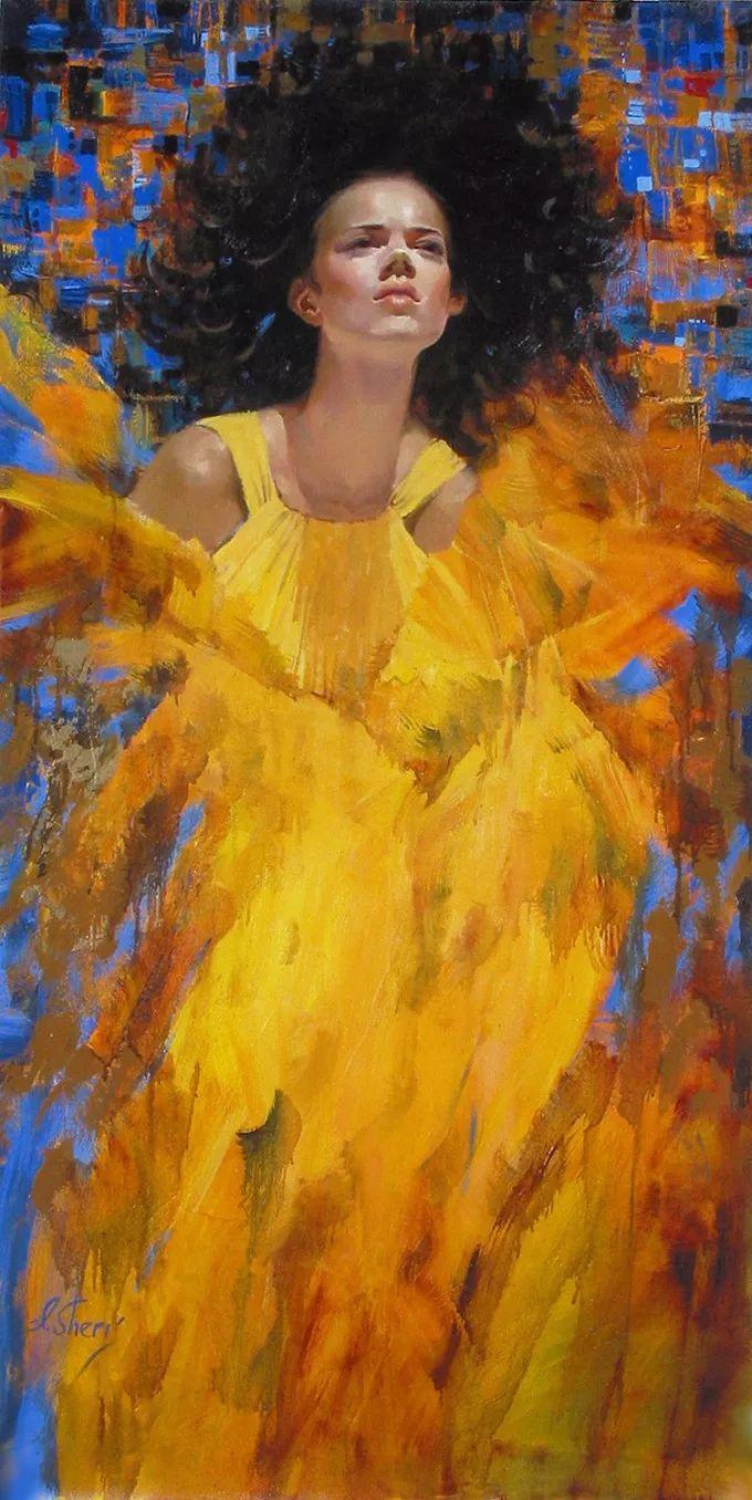她的油画有一种惊艳脱俗的美,乌克兰天才女画家艾琳·谢里插图46