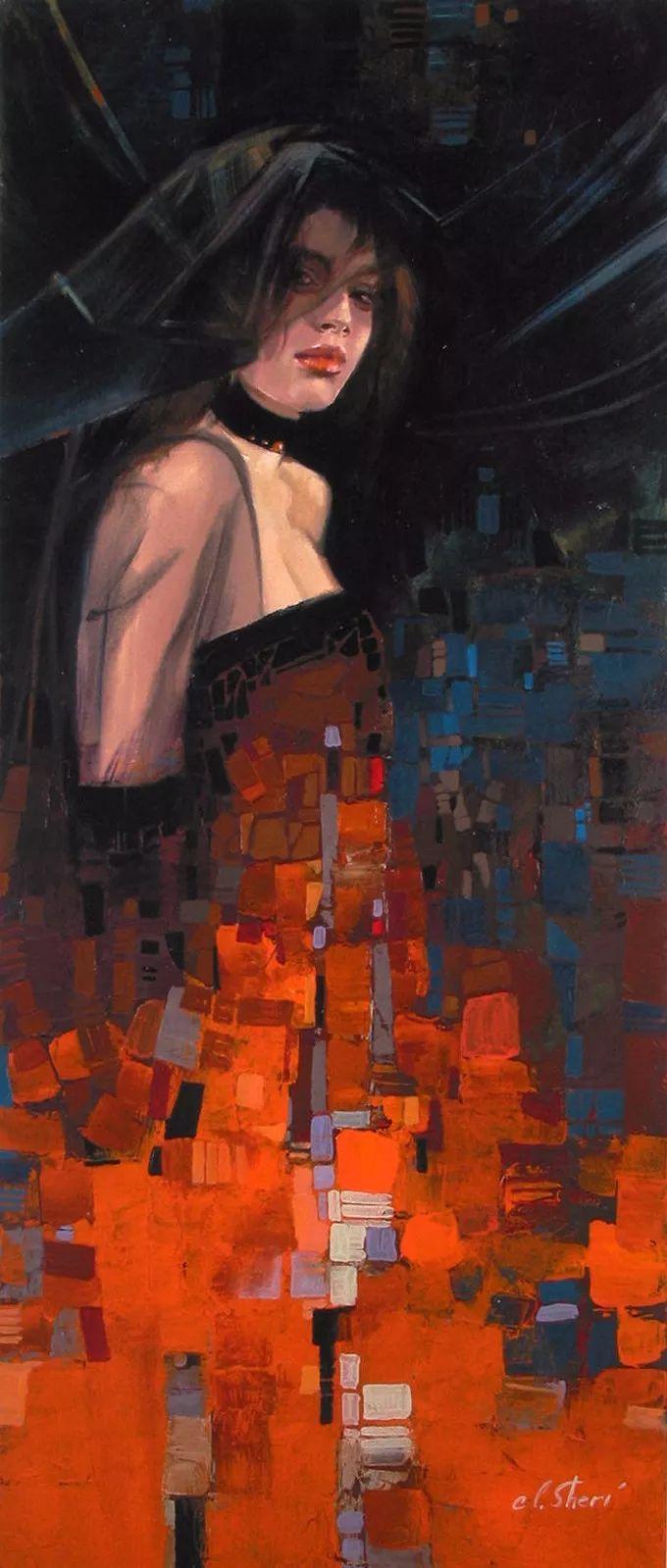 她的油画有一种惊艳脱俗的美,乌克兰天才女画家艾琳·谢里插图50