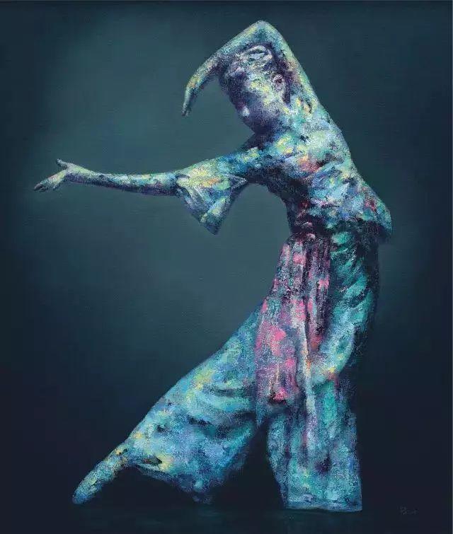 他苦练数年,终究画出了绘画版舞蹈《芳华》插图3