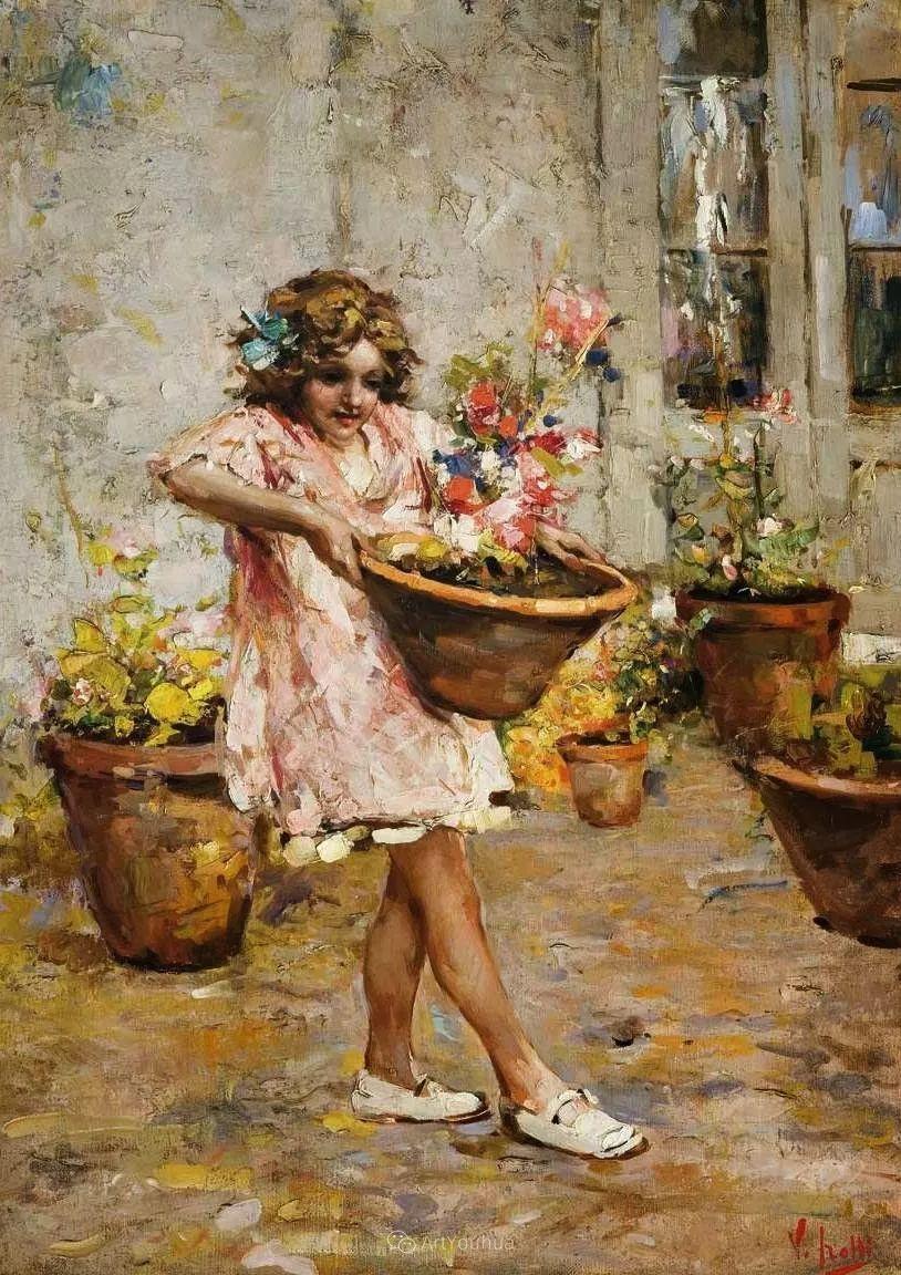 意大利肖像和风俗画家Vincenzo Irolli插图5