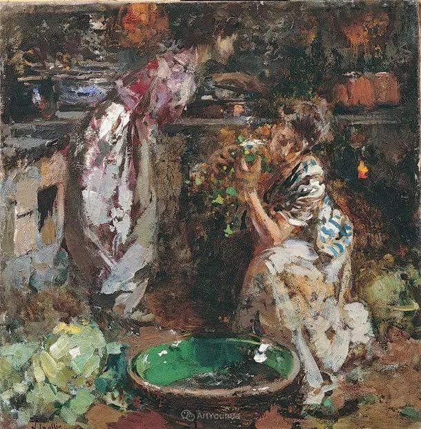 意大利肖像和风俗画家Vincenzo Irolli插图6