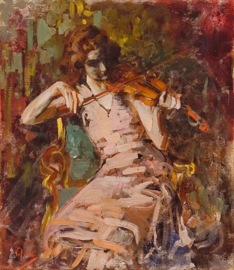 意大利肖像和风俗画家Vincenzo Irolli插图14