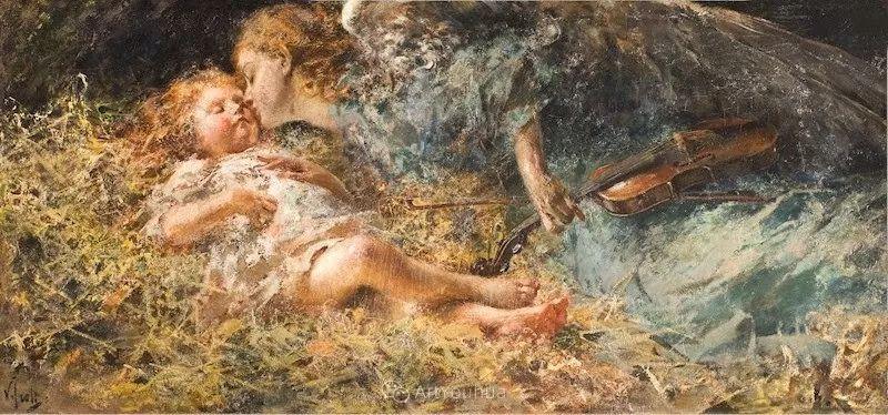 意大利肖像和风俗画家Vincenzo Irolli插图23