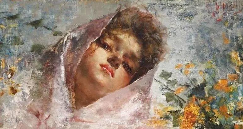 意大利肖像和风俗画家Vincenzo Irolli插图24