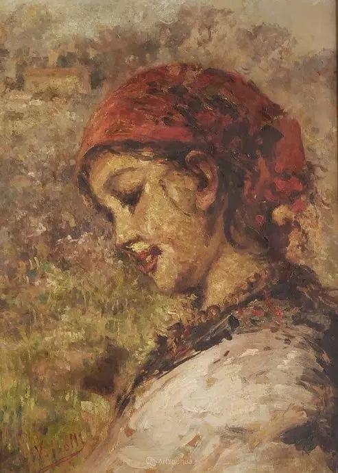 意大利肖像和风俗画家Vincenzo Irolli插图28