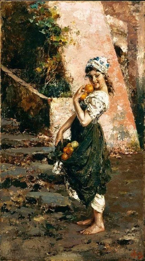 意大利肖像和风俗画家Vincenzo Irolli插图29