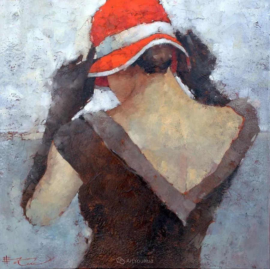 具象绘画中戴帽子的女子,韵味十足,俄罗斯画家Andre Kohn插图8