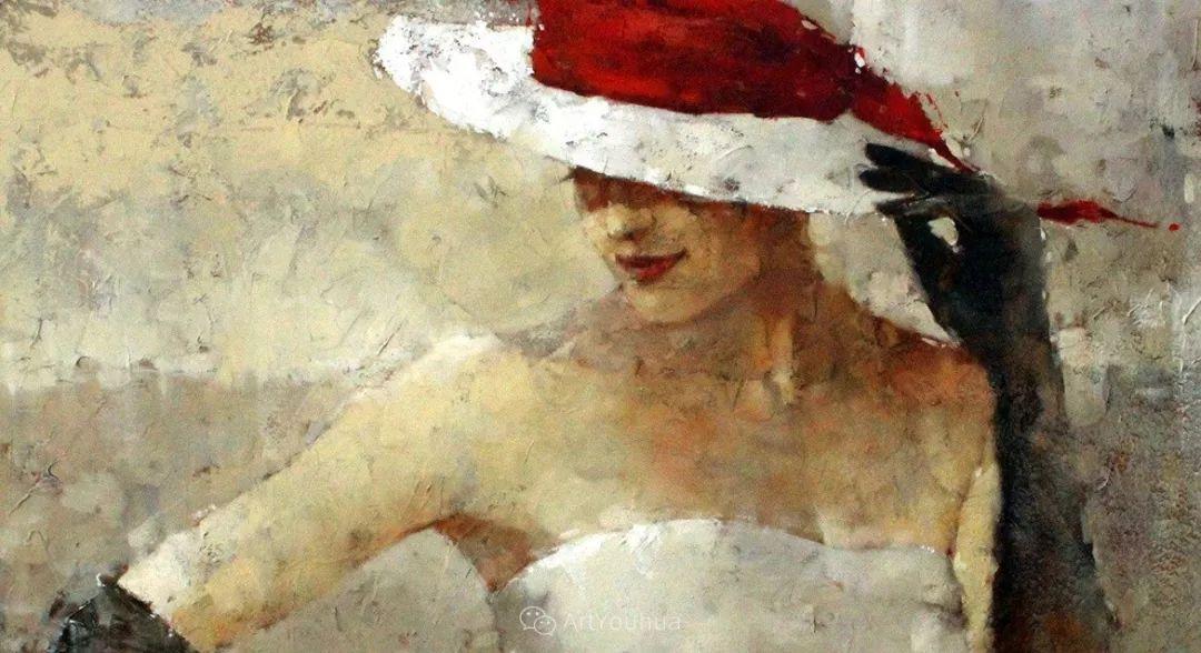 具象绘画中戴帽子的女子,韵味十足,俄罗斯画家Andre Kohn插图20