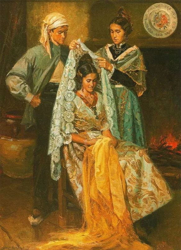 西班牙画家Juan Gonzalez Alacreu插图1