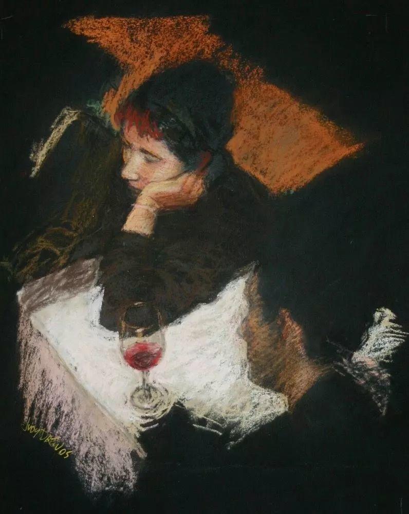 人物粉彩,澳大利亚女画家Judy Drew插图15