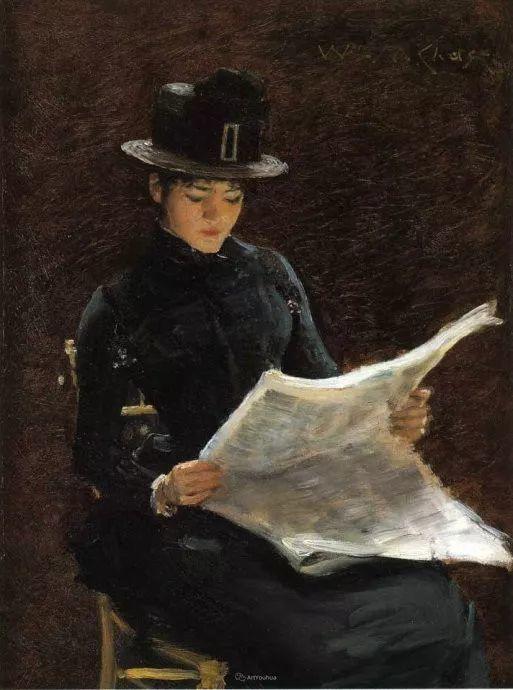 美国印象派画家William Merritt Chase插图35