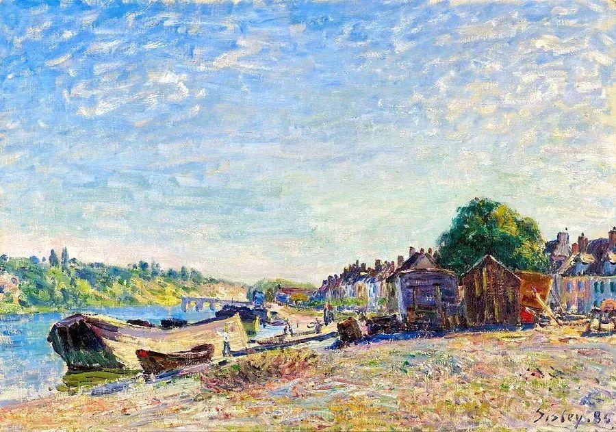 """风景画圣手,印象派""""七星""""中璀璨的明珠,英国画家Alfred Sisley插图2"""
