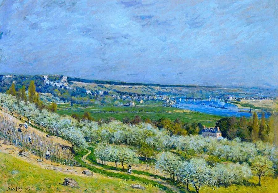 """风景画圣手,印象派""""七星""""中璀璨的明珠,英国画家Alfred Sisley插图4"""