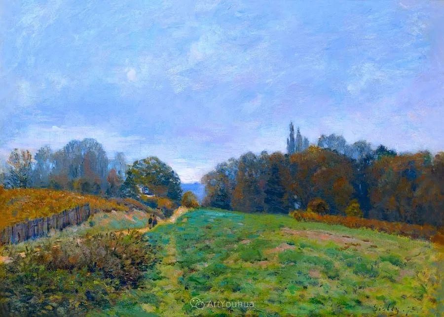 """风景画圣手,印象派""""七星""""中璀璨的明珠,英国画家Alfred Sisley插图9"""