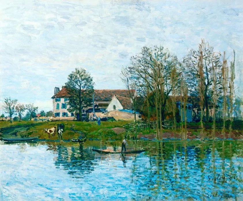 """风景画圣手,印象派""""七星""""中璀璨的明珠,英国画家Alfred Sisley插图10"""