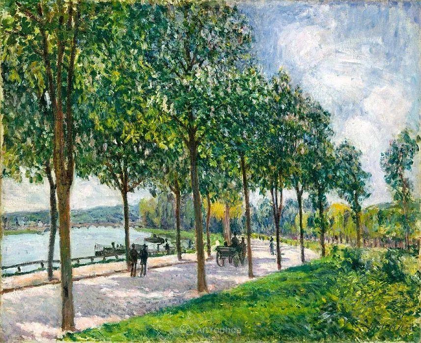 """风景画圣手,印象派""""七星""""中璀璨的明珠,英国画家Alfred Sisley插图11"""
