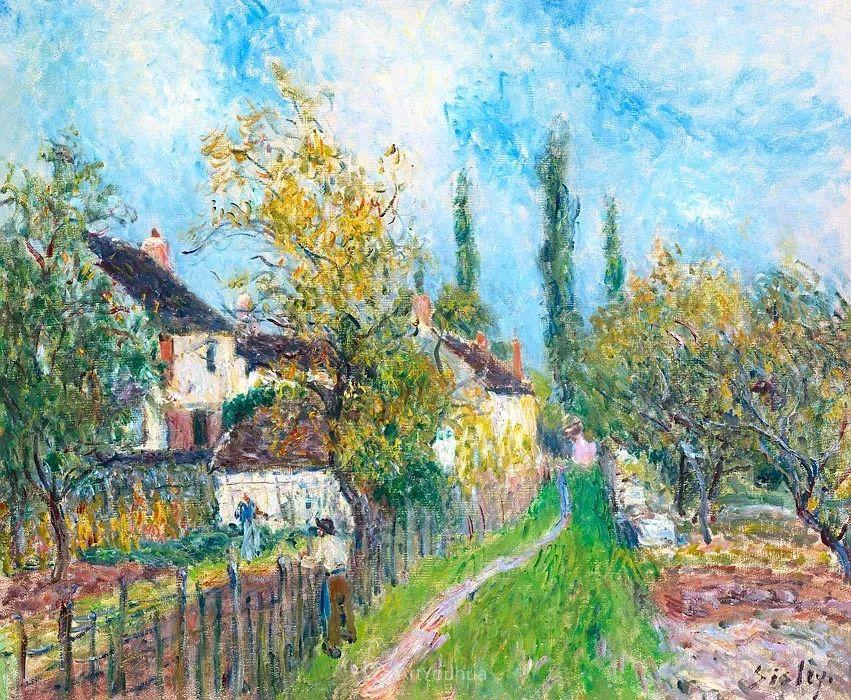 """风景画圣手,印象派""""七星""""中璀璨的明珠,英国画家Alfred Sisley插图14"""