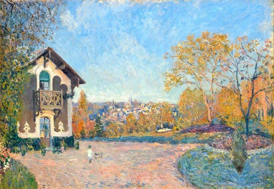 """风景画圣手,印象派""""七星""""中璀璨的明珠,英国画家Alfred Sisley插图15"""