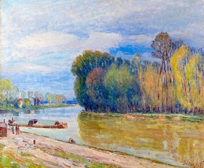"""风景画圣手,印象派""""七星""""中璀璨的明珠,英国画家Alfred Sisley插图16"""