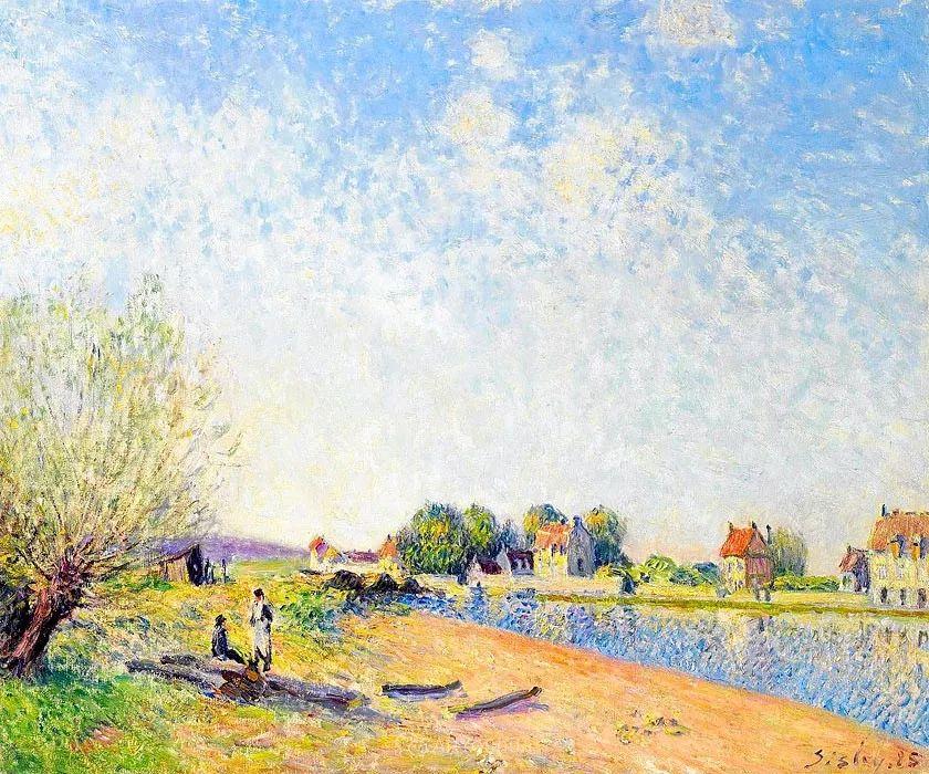 """风景画圣手,印象派""""七星""""中璀璨的明珠,英国画家Alfred Sisley插图17"""