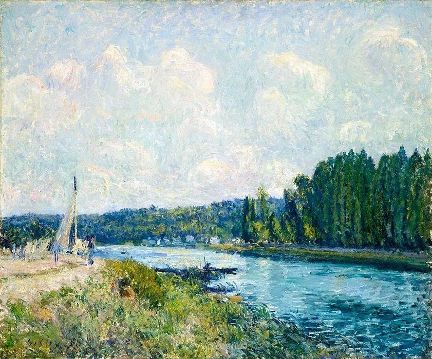 """风景画圣手,印象派""""七星""""中璀璨的明珠,英国画家Alfred Sisley插图18"""