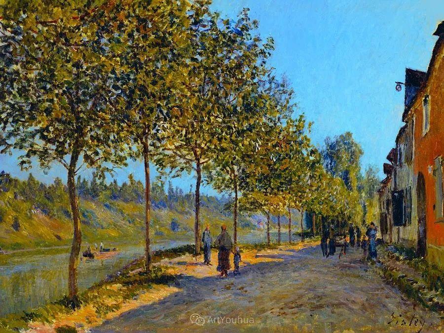 """风景画圣手,印象派""""七星""""中璀璨的明珠,英国画家Alfred Sisley插图21"""