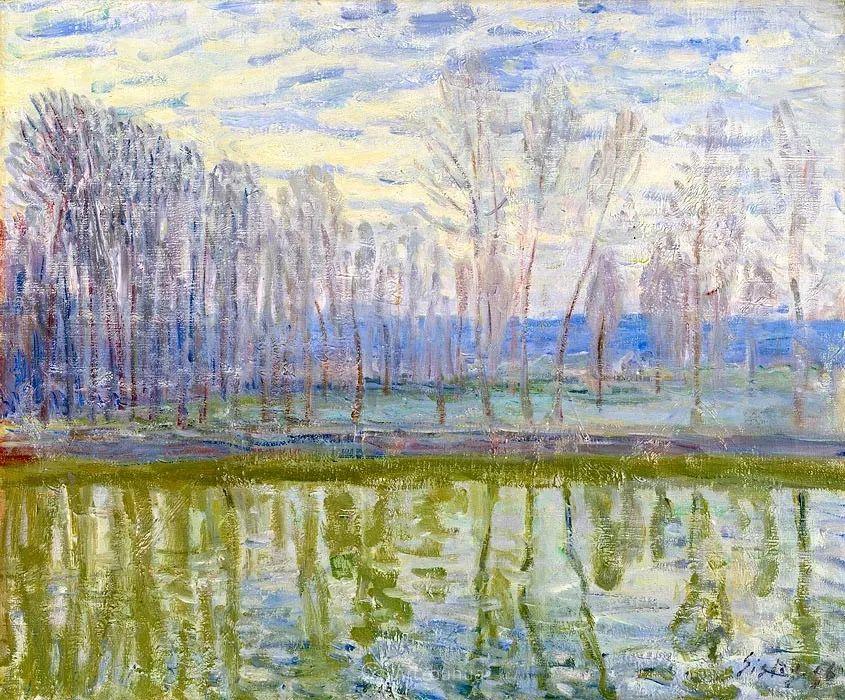 """风景画圣手,印象派""""七星""""中璀璨的明珠,英国画家Alfred Sisley插图24"""