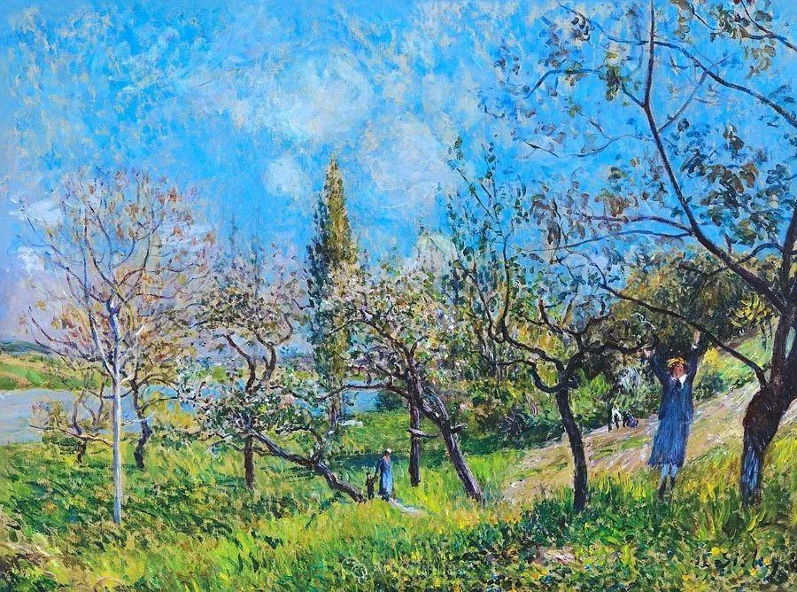 """风景画圣手,印象派""""七星""""中璀璨的明珠,英国画家Alfred Sisley插图27"""