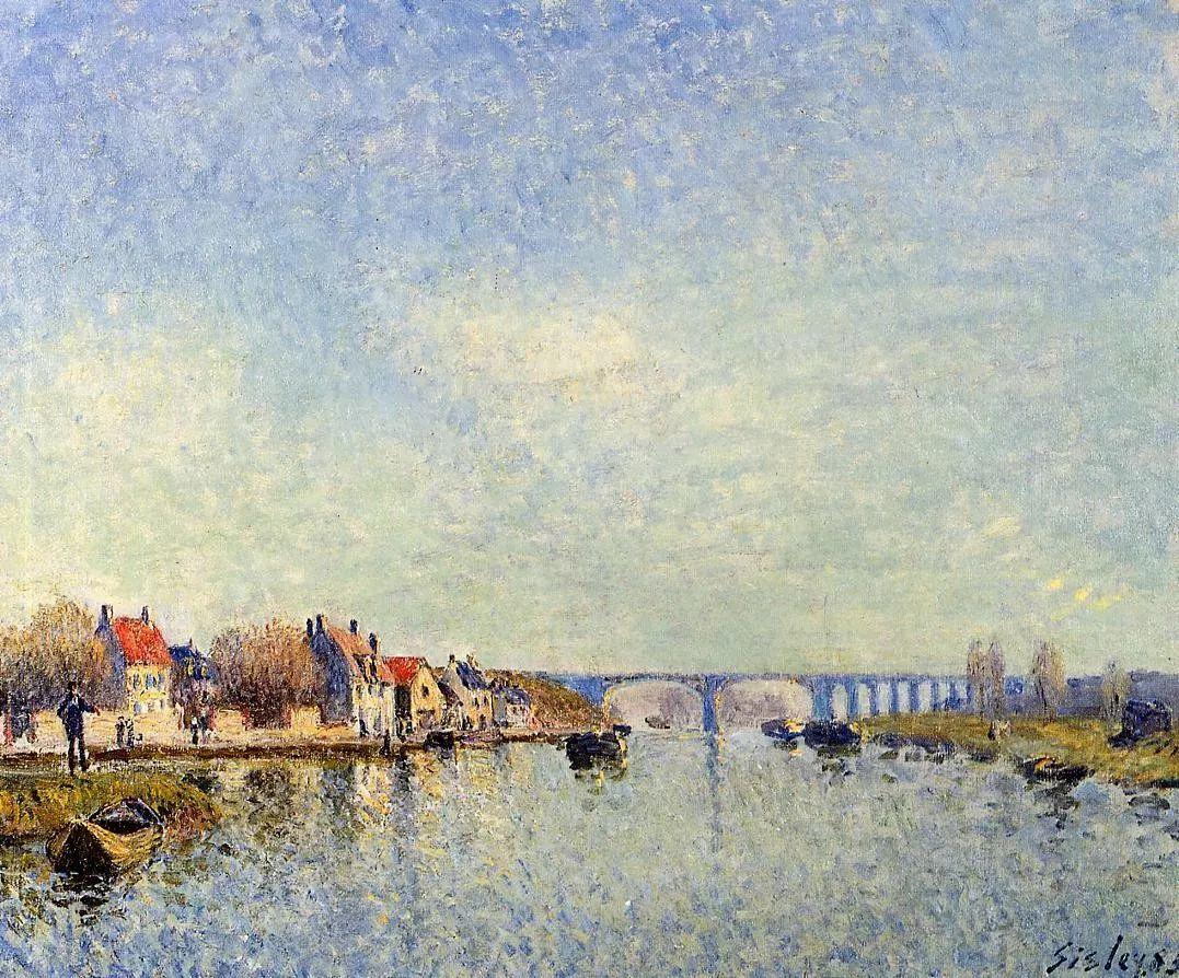 """风景画圣手,印象派""""七星""""中璀璨的明珠,英国画家Alfred Sisley插图34"""