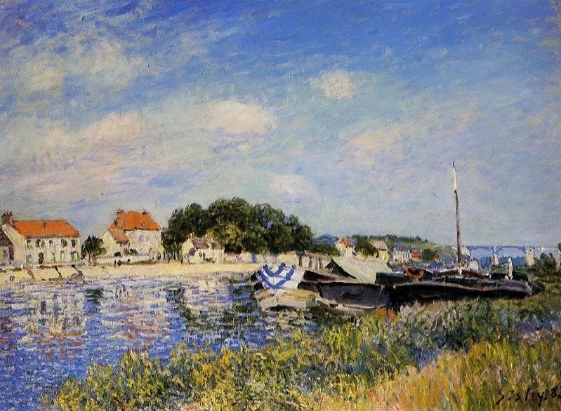 """风景画圣手,印象派""""七星""""中璀璨的明珠,英国画家Alfred Sisley插图35"""