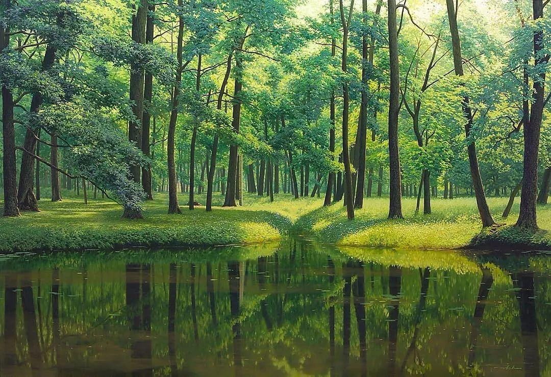他沉迷于画树林,超逼真,看了让人身临其境!插图4
