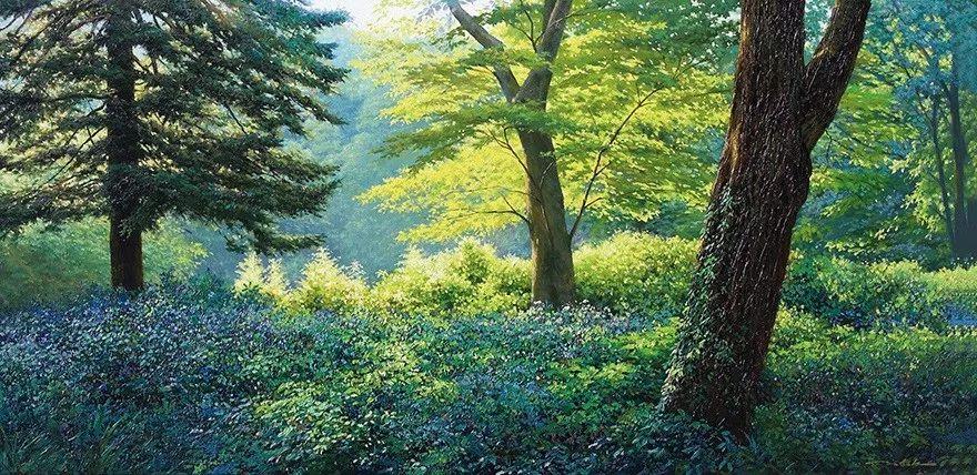 他沉迷于画树林,超逼真,看了让人身临其境!插图5