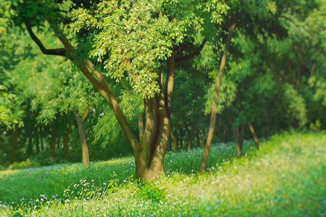 他沉迷于画树林,超逼真,看了让人身临其境!插图6